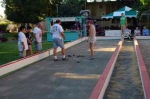 8.  Opening Day of the State Fair Wine Garden Bocce Courts