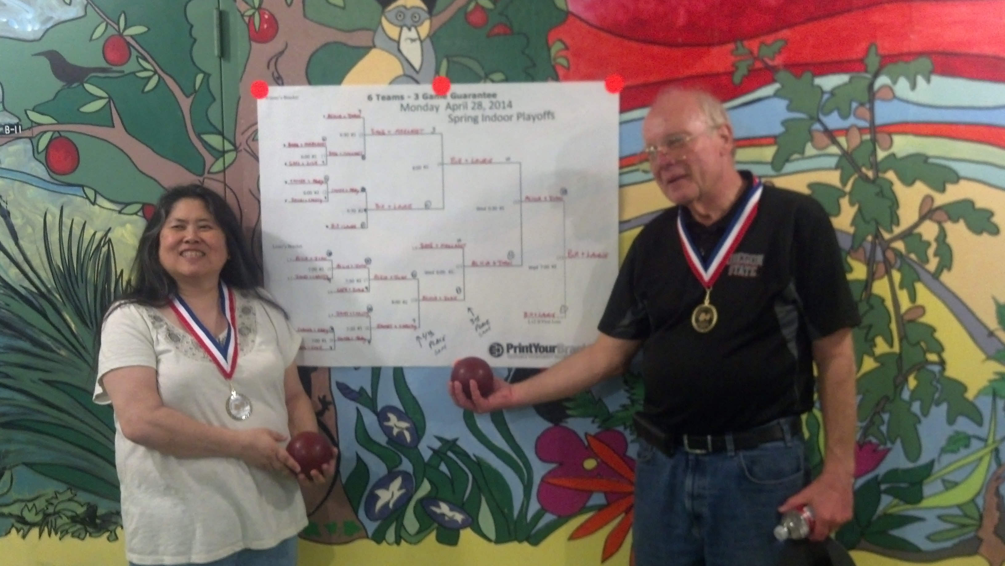Bill & Laurie, 2nd Place, Spring Indoor League Tournamnet ...